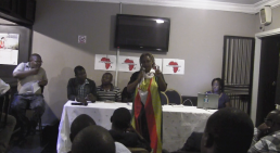 Lynnette Mudehwe of the Zimbabwe Activists Alliance(ZAA)